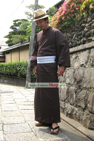 Traditional Japanese Kimono Yukata for Men