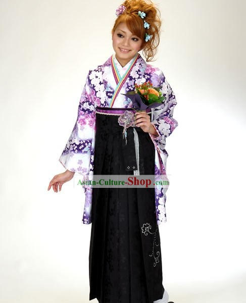 Traditional Japanese Kimono Complete Set for Women