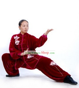Winter Kung Fu Master Martial Arts Silk Uniforms