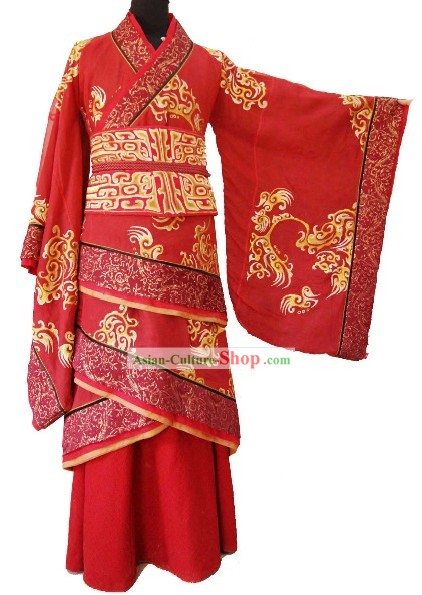 Traditional Chinese Wedding Dress for Brides or Bridegrooms