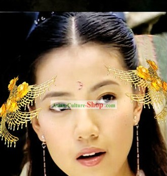 Ancient Style Chinese Golden Hairpin