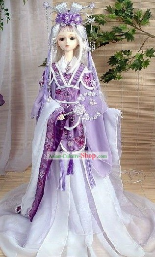 Classic Purple Imperial Dance Costume and Hair Accessories