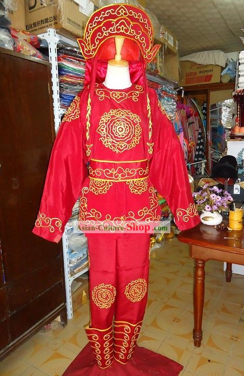 Chinese Peking Opera Solider Costumes Full Set