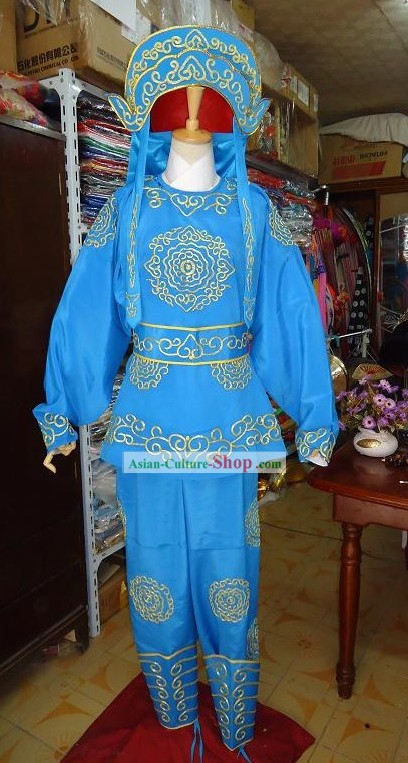 Peking Opera Solider Costumes and Helmet for Men