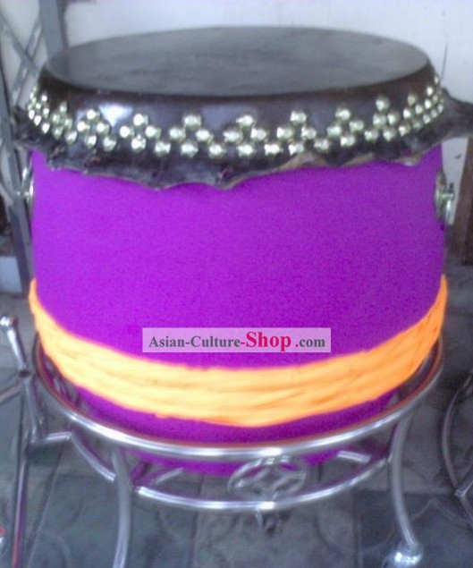 Luminous Purple Drum and Drum Cart