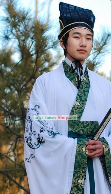 Traditional Chinese Dragon Outfit for Men