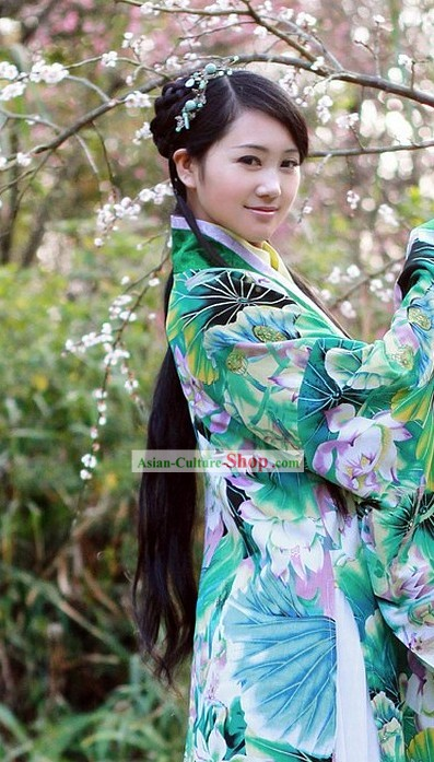 Ancient Chinese Princess Lotus Suit Complete Set for Women