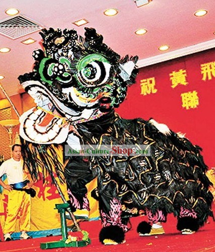 Folk FUT SAN Tiger Claw Pattern Lion Dance Costume Complete Set