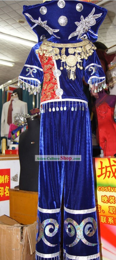 Traditional Chinese Zhuang Minority Clothing