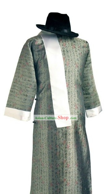 Min Guo Period Male Dress and Hat Set