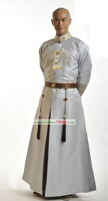 Ancient Chinese Qing Dynasty Prince Costume Set