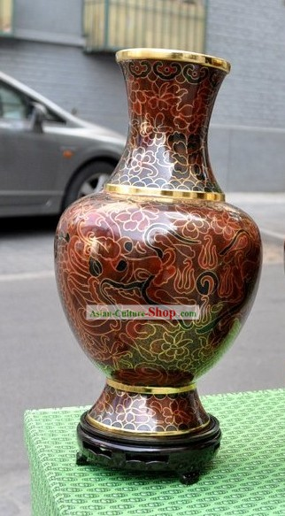 Chinese Classic Cloisonne Flower Vase