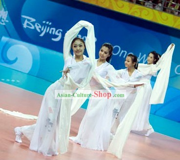 Chinese Classical Water Sleeve Dance Costume for Women