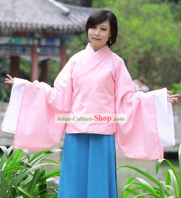 Ancient Chinese Hanfu Clothing Complete Set