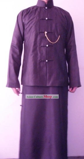 Traditional Chinese Kaftan Garment Clothing for Men