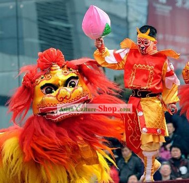 Northern Lion Dance Costume and Leading Monkey King Costume