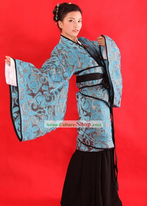 Ancient Chinese Hanfu Wear Clothing Complete Set