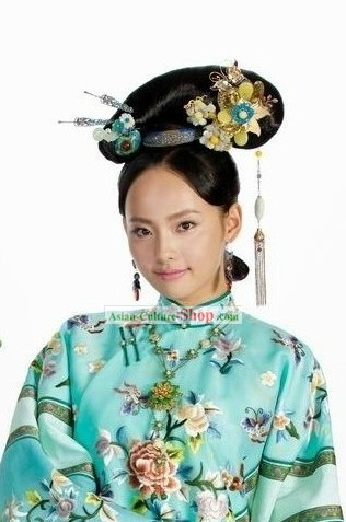 Ancient Chinese Princess Wig and Headpiece