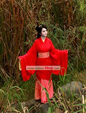 Red Ancient Chinese Clothing