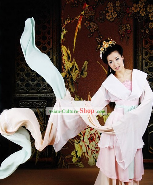 Ancient Chinese Royal Palace Dancer Costume Complete Set