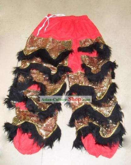 Black Long Wool Dragon Dancer and Lion Dancer Pants