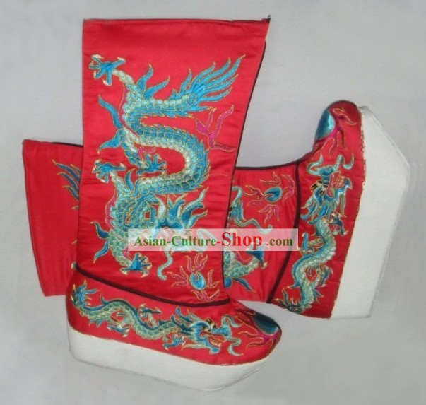 Traditional Chinese Dragon Boots