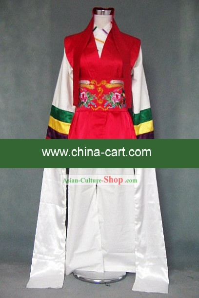 Ancient Long Sleeve Dance Costume for Both Men and Women