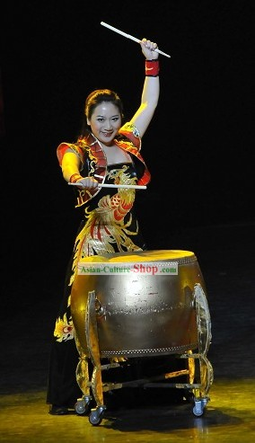 Chinese Leading Drummer Phoenix Costume Complete Set