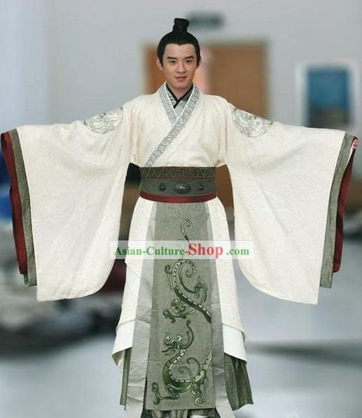 Ancient Chinese Han Dynasty Prince Dragon Robe Set