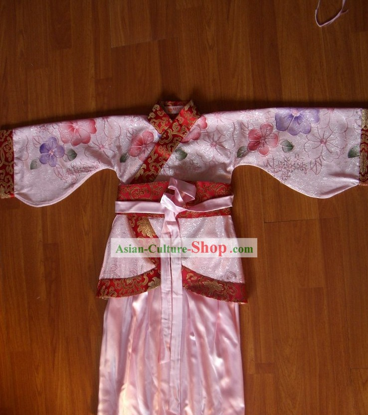 Chinese Koto Performance Costume Set for Children
