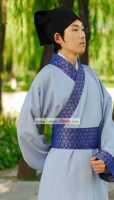 Traditional Chinese Han Clothing Complete Set for Men