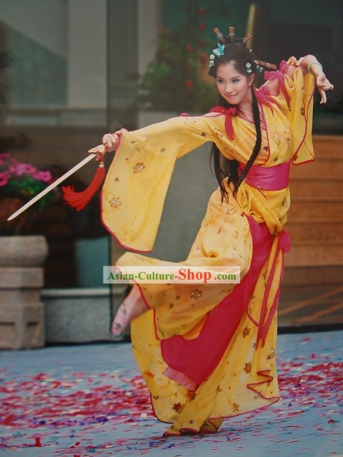 Ancient Chinese Swords Dance Costumes Complete Set