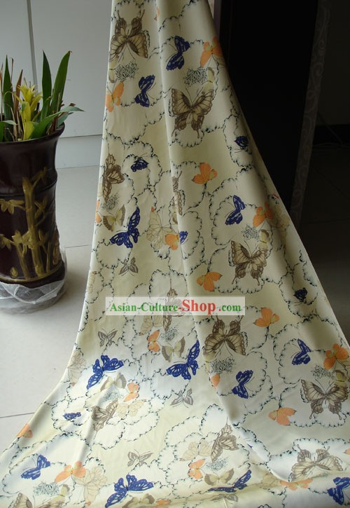 Chinese Butterfly Silk Fabric