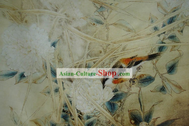 Traditional Chinese Landscape Painting Silk Fabric