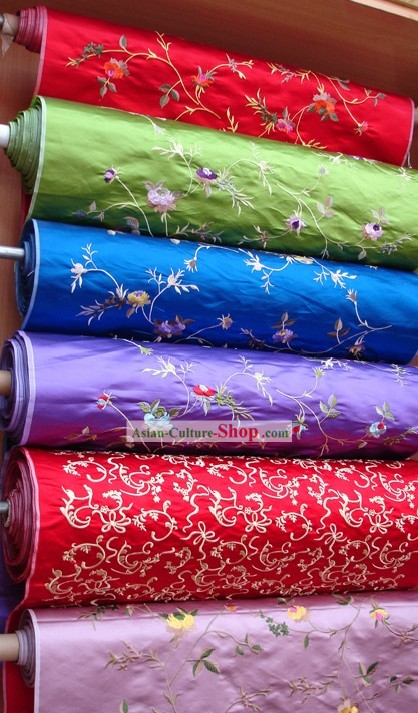 Han Chinese Clothing Embroidery Silk Fabric