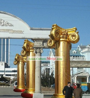 Traditional Large Inflatable Golden Column