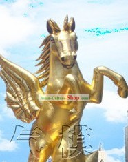 Traditional Large Inflatable Golden Horse