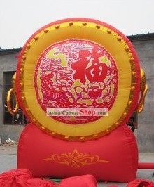 Traditional Large Chinese Inflatable Red Drum