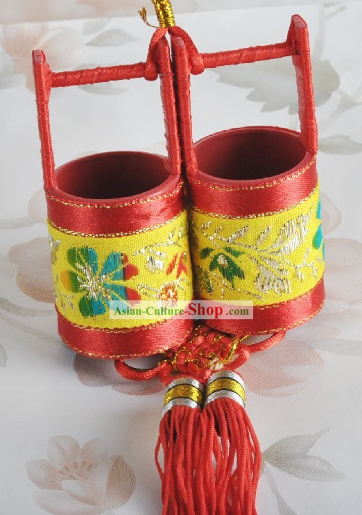 Traditional Chinese Wedding Sugar Bucket 100 Pieces Set