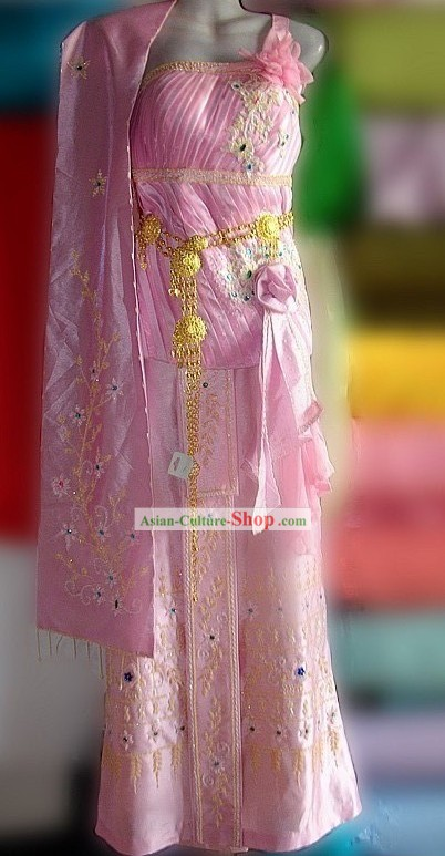 Traditional Thailand Palace Clothing Set for Women