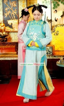 TV Drama Qing Dynasty Palace Women Dress Set
