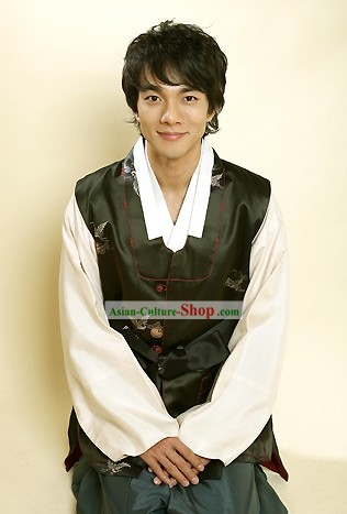 Traditional Korean Hanbok Coat Set for Men