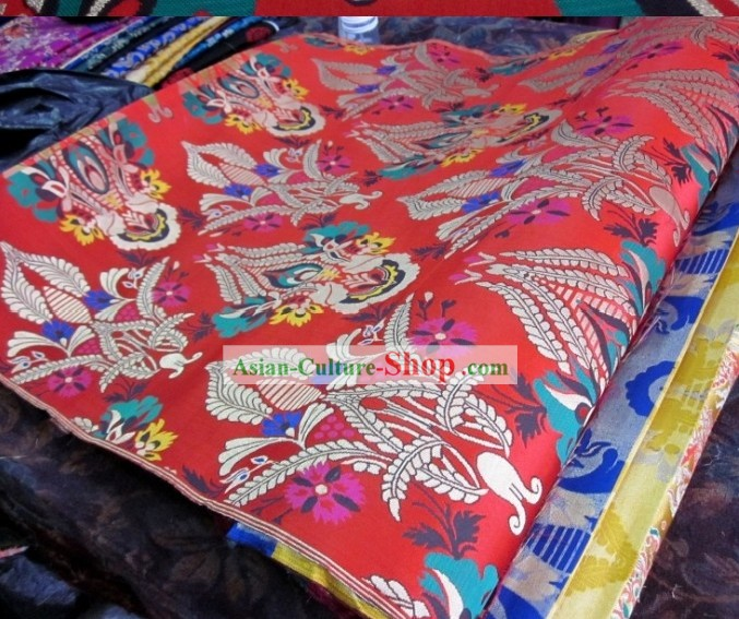 Traditional Chinese Folk Brocade Fabric