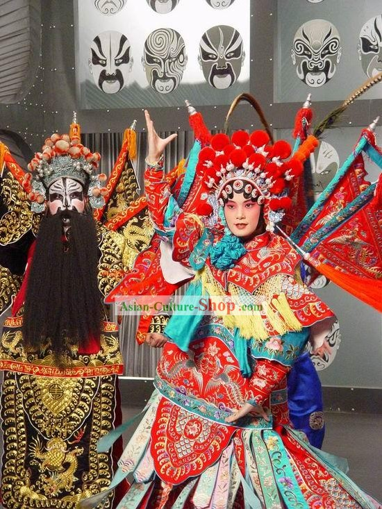 Peking Opera Performance Costumes 2 Sets for Men and Women