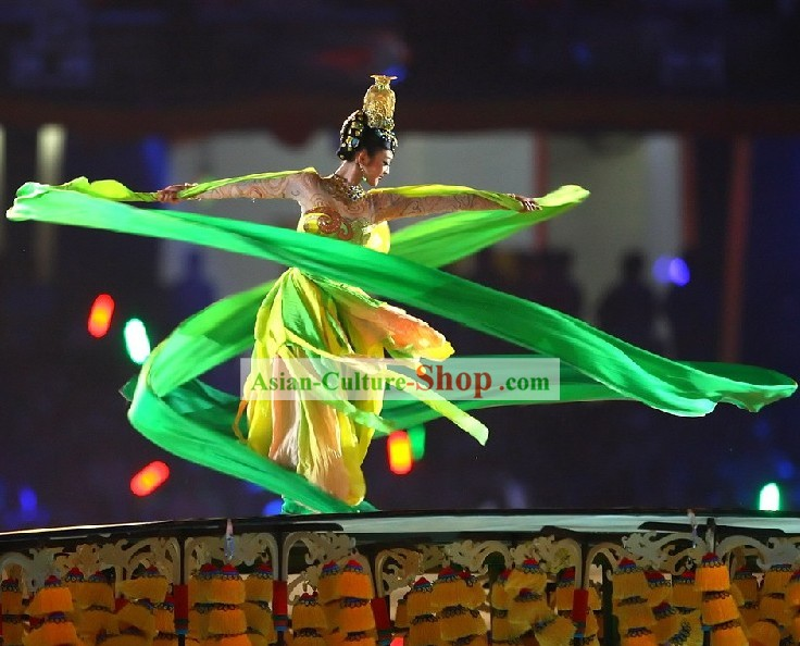 Beijing Olympic Games Opening Ceremony 473 Inches Silk Dance Ribbon