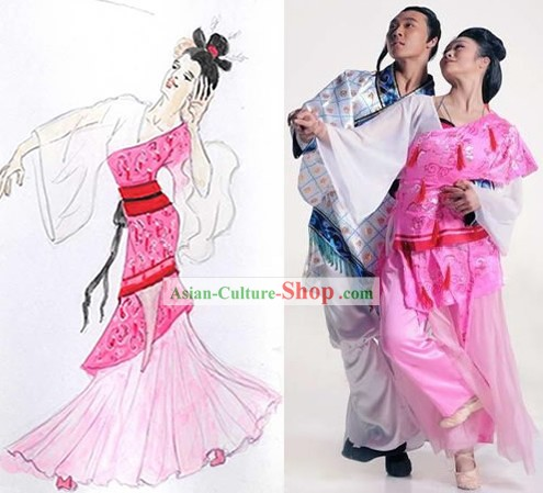 Chinese Folk Dancing Costumes for Women