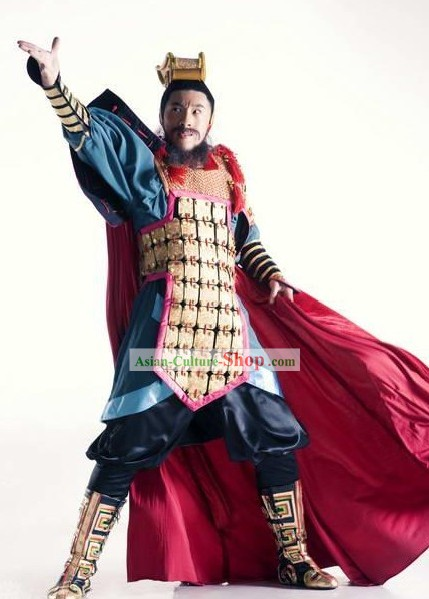 Chinese Ancient General Costume and Hat for Men