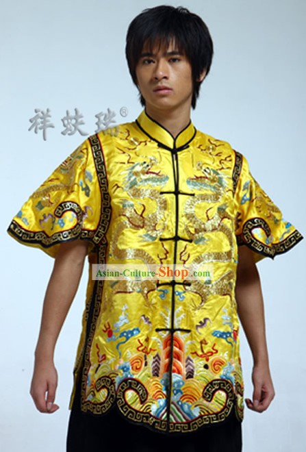 Rui Fu Xiang Chinese Golden Dragon Tang Suit