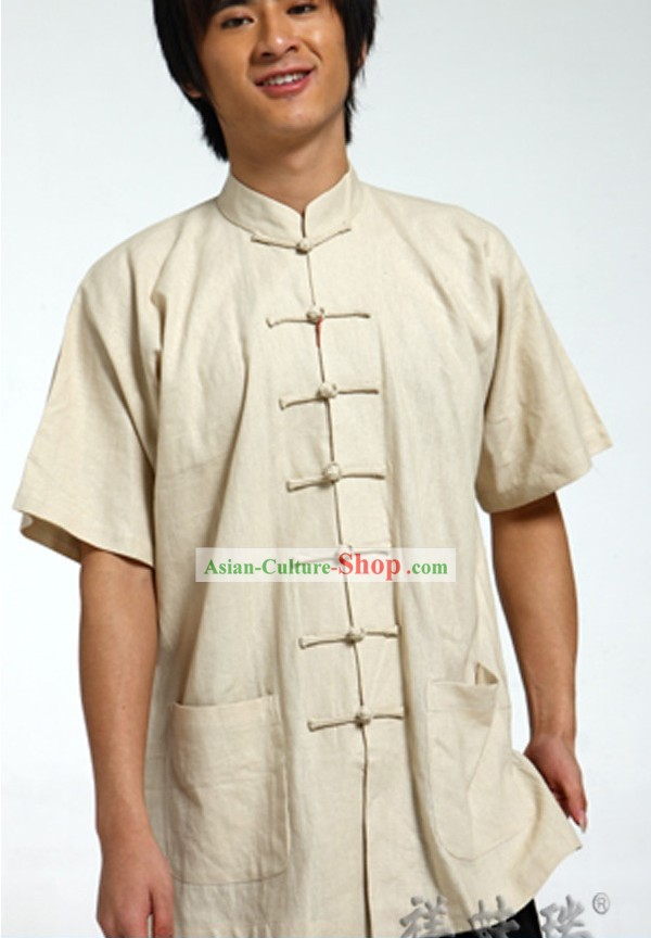 Chinese Traditional Flax Blouse for Men