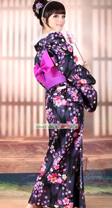 Top Japanese Yukata Kimono Obi Belt Geta Sandal Complete Set for Women